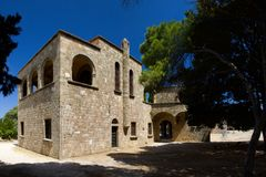 Monastry of filerimos Rhodos Greece royalty free stock photos