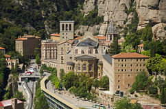 Monastry at Monserrat. The world famous monastry at Monserrat. The monastry is located close to the city of Barcelona in Spain and has been a place of worship Stock Photography