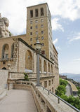 Monastry at Monserrat. The world famous monastry at Monserrat. The monastry is located close to the city of Barcelona in Spain and has been a place of worship Royalty Free Stock Images