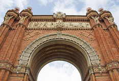 Arc of Triumph, Barcelona  Royalty Free Stock Images