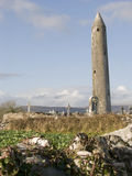 Monastry ruins in Ireland. Kilmacduagh monastry, County Clare, Ireland Royalty Free Stock Images