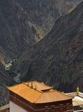 Monastry in tibetan highland Stock Photos