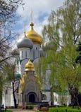 monastyr莫斯科novodevichij春天 库存图片