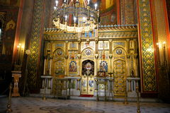 Monastyr i Rumänien Arkivbilder