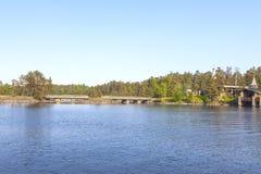 Monastyrskyeiland, Valaam Kapel van Alle Valaam-Heiligen royalty-vrije stock afbeelding