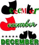 Monat des Dezember-Textes Lizenzfreies Stockbild