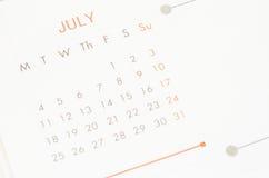Monat Juli Stockfotografie