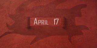 Monat und Tag des Jahres, Kalenderdesign Stockfoto