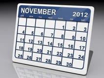 Monat von November 2012 Vektor Abbildung