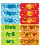 Monate vektor abbildung