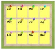 Monate Anschlagtafel stock abbildung