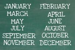 Monate des Jahres Lizenzfreie Stockfotos