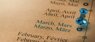 Monate des Jahres, März vektor abbildung
