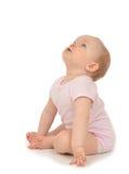 10-monatiges Kinderbaby-Kleinkindsitzen Stockfoto
