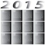 Monatsjahr 2015 zwei Tone Calendar Lizenzfreie Stockfotos