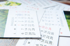 Monatskalender lizenzfreie stockfotos