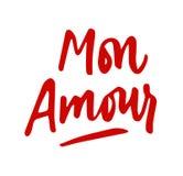 Monavontuurtje het van letters voorzien Citaat van de liefde het hand getrokken kalligrafie valentin vector illustratie
