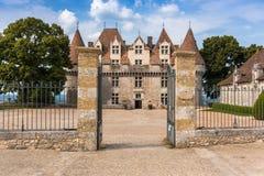 Monbazillac Castle με τον αμπελώνα, Aquitaine, Γαλλία στοκ φωτογραφίες