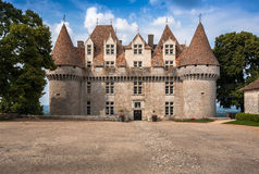 Monbazillac Castle με τον αμπελώνα, Aquitaine, Γαλλία στοκ φωτογραφία με δικαίωμα ελεύθερης χρήσης