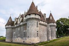 Monbazillac Castle με τον αμπελώνα, Aquitaine, Γαλλία στοκ εικόνα με δικαίωμα ελεύθερης χρήσης
