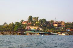 Monbrug in Sangkhlaburi Stock Afbeelding