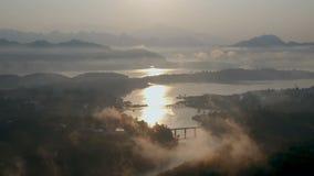 Monbrug, Sangkhlaburi, Kanchanaburi, Thailand, Azië stock footage