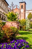 Moncalieri town square. Low angle view of the main plaza of Moncalieri, Piazza Vittorio Emanuele II royalty free stock photos
