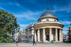 The Monceau garden in Paris Royalty Free Stock Photography