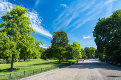 The Monceau garden in Paris Royalty Free Stock Photo