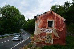 Moncenisio droga, Włochy Zdjęcia Royalty Free