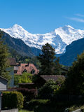 Monch and Jungfrau Stock Photography