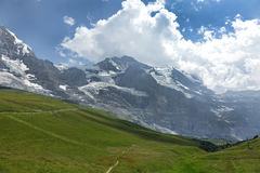 Monch and Jungfrau mountains Royalty Free Stock Photos