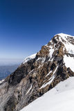 Monch Peak in a clear sky day. The view of Monch Peak from Jungfraujoch viewpointm Switzerland Stock Images