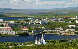 Monchegorsk, Rússia, Kola Peninsula Imagens de Stock
