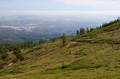 从Monchique山的看法 库存图片