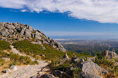 从Monchique山的看法 免版税库存照片
