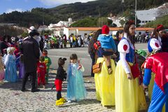 Carnival in Portugal royalty free stock photos