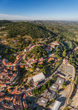 Monchique in mountains of Algarve, Aerial. Stock Images