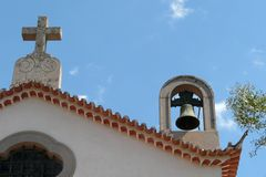 Monchique's church roof. Particular of the church of Monchique Spa, Southern Portugal stock photo