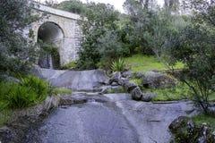 Monchique village famous therapeutic pure fresh mountain water s. Tream. Algarve. Portugal Stock Photo