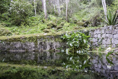 Monchique village famous therapeutic pure fresh mountain water s Stock Photography