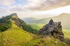 Monchong charmigt berg Fotografering för Bildbyråer