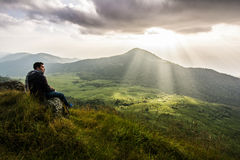 Monchong charmigt berg Royaltyfri Fotografi