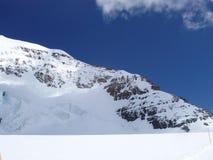 Monchview from the Jungfraujoch Switzerland Stock Images