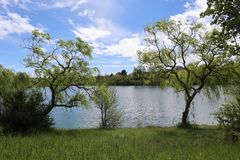 Monclar De Quercy - Lac obrazy royalty free