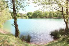 Monclar de Quercy - Lac royalty free stock image