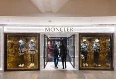Moncler store in Pacific Place shopping mall, Hong Kong Stock Photos
