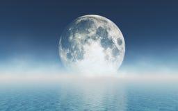 Mond über dem Wasser lizenzfreies stockfoto