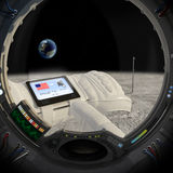 Mond 40 Jahre später Stockbilder