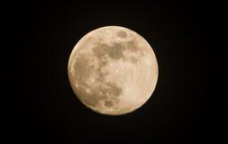 Mond auf der Dunkelheit Stockbilder